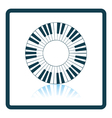 Piano circle keyboard icon vector image vector image