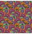 Abstract decorative seamless pattern with hand dra vector image