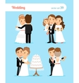 Bride and groom characters vector image
