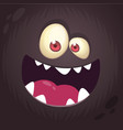 cool cartoon black monster face vector image