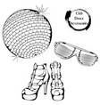 dance line club dance accessories vector image