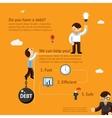 debt poster concept vector image
