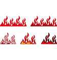 fire border vector image