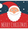 Flat design Santa greeting card vector image