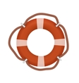 Life buoy isolated on white vector image