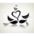 romantic black cats happy couple vector image