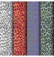 set of seamless leopard patterns vector image