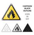 sign of flammabilityoil single icon in cartoon vector image