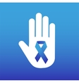 Stop cancer medical logo icon concept vector image
