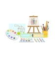 Painting Class Set Of Objects vector image