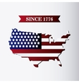 United states of america flag and map design vector image