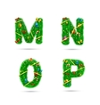 Fir tree font letters vector image vector image