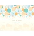 Fabric circles abstract horizontal seamless vector image
