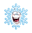 Snowflake Head LOL vector image