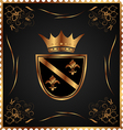 vintage post mark with heraldic elements - vector image vector image