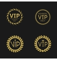 VIP Laurel wreaths vector image