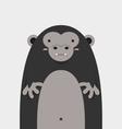 cute big fat gorilla vector image