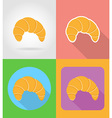 fast food flat icons 03 vector image