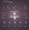 purple infograph vector image