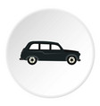 retro car icon circle vector image