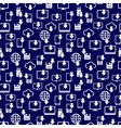 Different devices downloading seamess pattern vector image