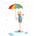 under my umbrella vector image