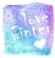 abstract winter hand-drawn watercolor vector image