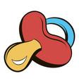 baby nipple icon cartoon vector image