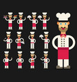 chef flat design set vector image