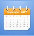european calendar for september 2017 vector image