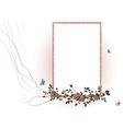 vector illustraition of elegant floral frame vector image