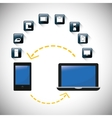 gadgets internet of things design vector image