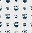 Perfume icon sign Seamless pattern with geometric vector image