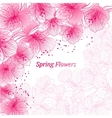 Abstract gradient seamless flower background with vector image vector image