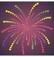 firework colorful one dots vector image vector image