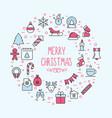 christmas celebration concept vector image