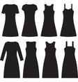 Different women dresses vector image vector image