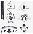 Saint Patricks Day Set of Typographic Badges vector image