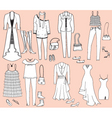 fashion accessories vector image vector image