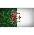 Flags Algeria with broken glass texture vector image