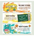 Back to school banners or website header set vector image