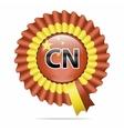 national flag badge CN vector image