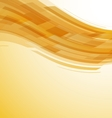 Abstract yellow wave technology background vector image vector image