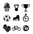 Collection of sports icons vector image