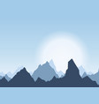 horizontal panorama of beautiful sunrise in the vector image