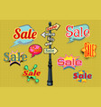 sales background pole sign vector image