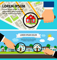 search house concept magnifying glass select with vector image