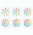 set of swirl style infographics 7-12 options vector image