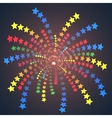 firework colorful one stars vector image vector image