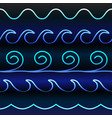blue tones gradient line waves vector image